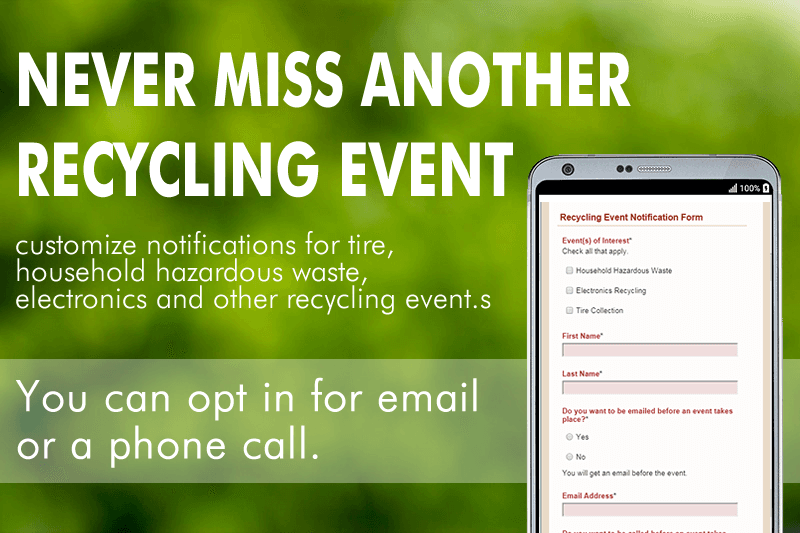 Recycling Event Notifications