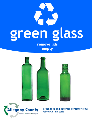 green glass recycling Sign